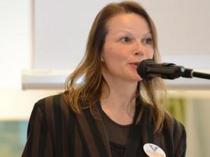 Conservatrice Natalie Kriek tekende voor de centrale presentatie van de middag.